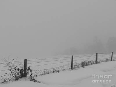Photograph - Winter Fence Line by David Bearden