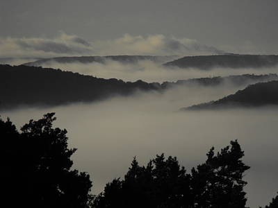 Photograph - Winter Fog Mountains by Rebecca Cearley