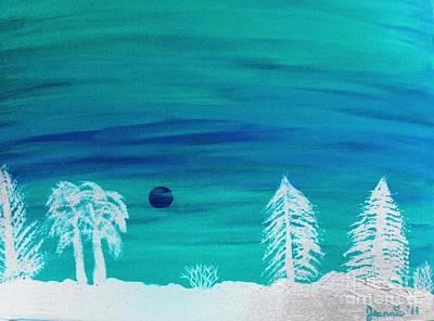 Winter Glow Art Print by Jeannie Atwater Jordan Allen