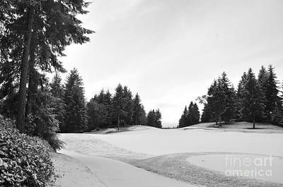 Winter Golf Course  2 Art Print by Tanya  Searcy
