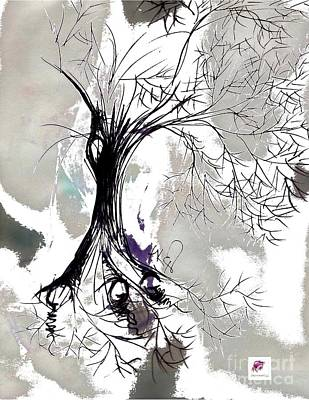 Drawing - Winter Greenlake Tree by Carol Rashawnna Williams