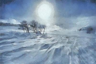 Snowscape Digital Art - Winter by Gun Legler