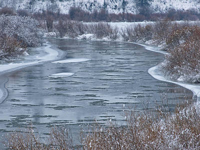 Photograph - Winter Ice Flows by DeeLon Merritt