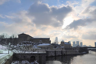 Winter In Philly Art Print by Bill Cannon