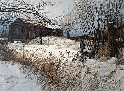 Painting - Winter In Prince Edward County by Robert Hinves