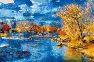 Digital Art - Winter In Salida -- Renoir by Charles Muhle