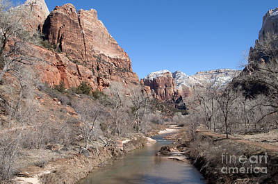 Art Print featuring the photograph Winter In Zion by Bob and Nancy Kendrick