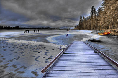 Photograph - Winter Lake by Melvin Kearney