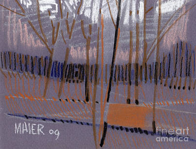 Winter Landscape Abstract Original by Donald Maier