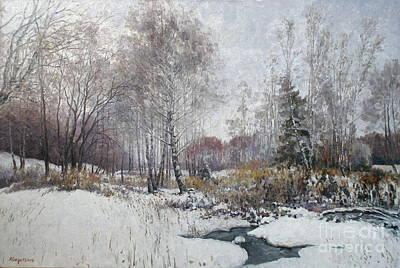 Winter Landscape Art Print by Andrey Soldatenko