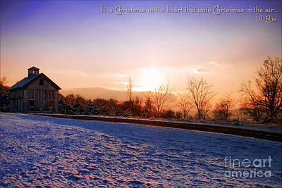 Winter Landscape Connecticut Usa Art Print by Sabine Jacobs