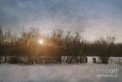 Winter Landscape  Art Print by Sandra Cunningham