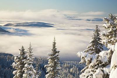 Winter Landscape With Clouds And Art Print by Craig Tuttle