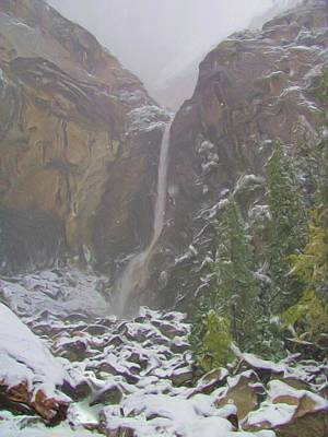 Photograph - Winter Lower Yosemite Falls by Heidi Smith