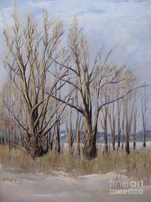 Painting - Winter Maples by Ronald Tseng