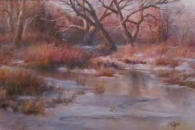 Pastel - Winter Marsh Series - The Dance by Bill Puglisi