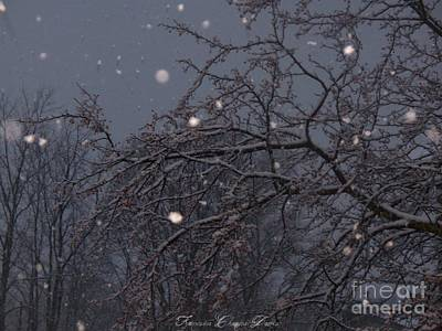 Winter Night Art Print by Sacred  Muse