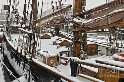 Winter On Deck Art Print by Heiko Koehrer-Wagner