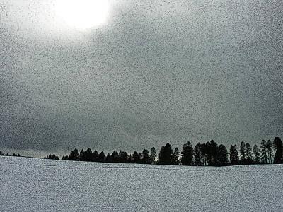 Winter On Mary's Peak Art Print by Bonnie Bruno