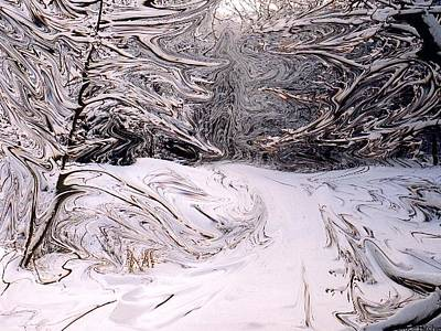 Mixed Media - Winter On Mount Nemo by Bruce Ritchie
