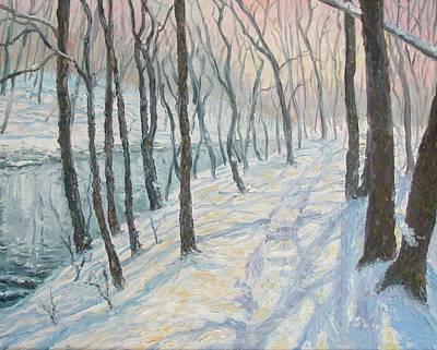 Steelhead Painting - Winter On The Oak by Thomas Zangerle