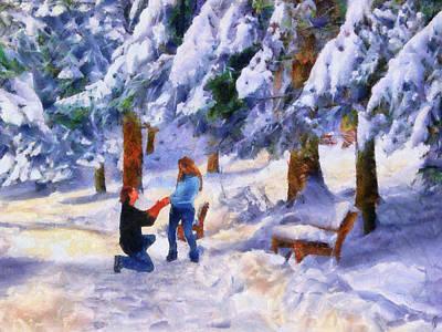 Painting - Winter Proposal by Jai Johnson