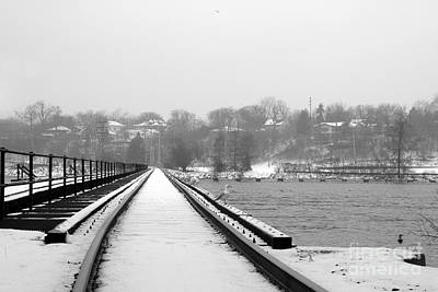 Appleton Wisconsin Photograph - Winter Rails by Joel Witmeyer