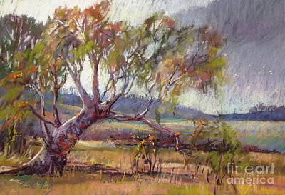 Painting - Winter Redgum by Pamela Pretty