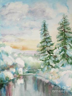 Painting - Winter Reflections by Inese Poga