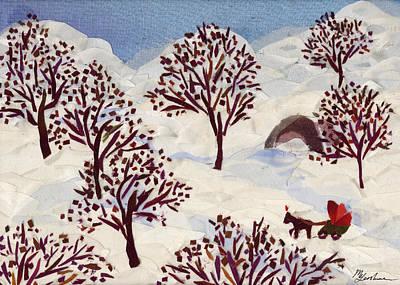 Winter Ride Art Print by Marina Gershman