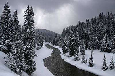Photograph - Winter River by Ryan Heffron