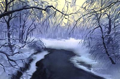 Painting - Winter River by Sergey Zhiboedov