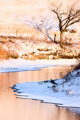 Snowy Digital Art - Winter Scene At Sunset by Mark Duffy