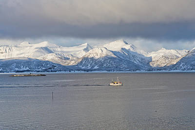 Winter Sea Print by Frank Olsen
