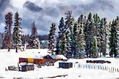 Solitude Digital Art - Winter Seclusion by Jeff Kolker