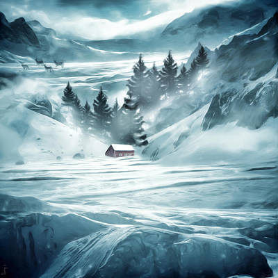 Winter Seclusion Art Print by Lourry Legarde