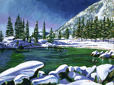 Most Popular Painting - Winter Serenity by David Lloyd Glover