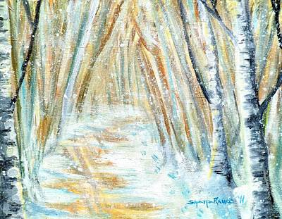 Art Print featuring the painting Winter by Shana Rowe Jackson