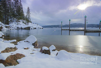 Winter Shore Print by Idaho Scenic Images Linda Lantzy