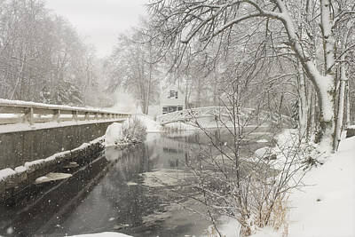 Somesville Photograph - Winter Snowstorm In Somesville Maine by Keith Webber Jr