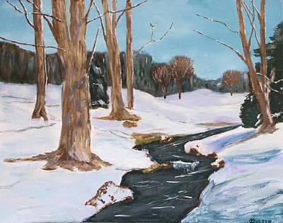Painting - Winter Solitude by Cynthia Morgan