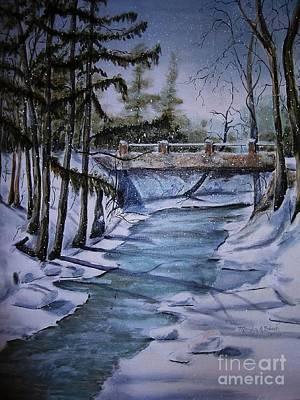 Winter Solitude Art Print by Marylyn Wiedmaier
