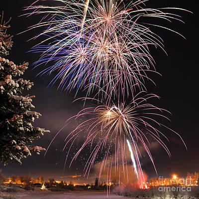 Winter Solstice Fireworks Art Print by Gary Whitton