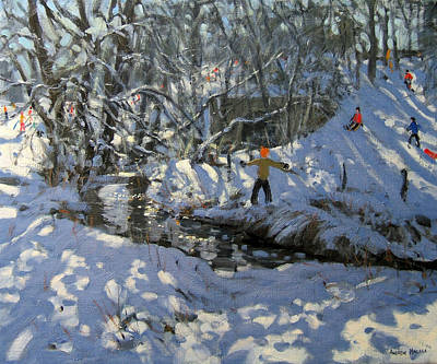 Piste Painting - Winter Stream by Andrew Macara