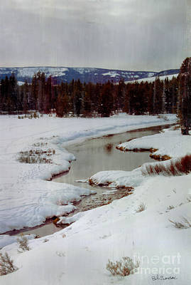 Photograph - Winter Stream by Bob Senesac