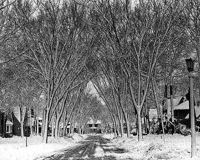 Claude Monet - Winter Street Rustic by Pete Klinger