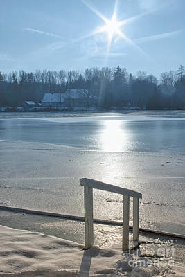 Photograph - Winter Sun At The Lake by Jutta Maria Pusl