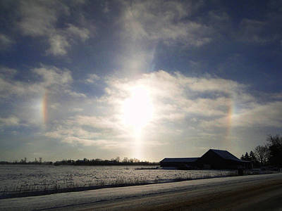Mixed Media - Winter Sun Dogs by Bruce Ritchie