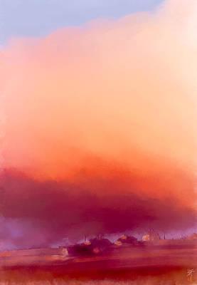 Digital Art - Winter Sun In Iceland by Greta Thorsdottir