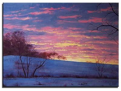 Winter Sunset Wall Art - Painting - Winter Sunrise by Graham Gercken
